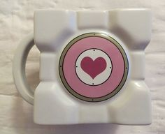 PORTAL 2 COMPANION CUBE COFFEE MUG NEW LICENSED VALVE GAME COLLECTIBLE CUP
