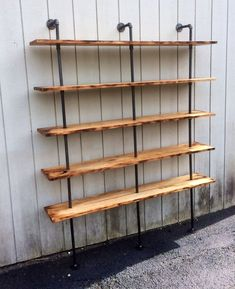 This The Hemingway Wall Mount Bookcase Reclaimed Wood Bookshelf Pipe Wall Bookshelf Shelf Built In Industrial Shelving Store Display is just one of the custom, handmade pieces you'll find in our bookshelves shops. Diy Bookshelf Wall, Wood Bookshelves, Wall Mounted Bookshelves, Wall Shelves, Bedroom Shelves, Hanging Shelves, Corner Shelves, Kitchen Shelves, Storage Shelves