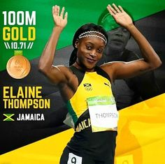 Salute to the Fastest Woman in the World @athleticbaby____  #ElainThompson #Jamaica #GoldMedal #Olympics #Rio2016 #REALTOR #RonnieJ  #StriveForGreatness #LJRE #RealEstate #Sales  #TJT #Lena #Home #Sale  #SouthFlorida #Entrepreneur  #Luxury #Lifestyle #Empowerment #Love #Speaker #Writer #Visionary #Inspiration #Motivation #Life #Wisdom #Business