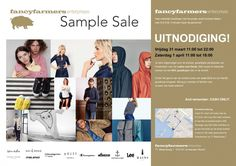 Fancyfarmers One And Only SampleSale --  Amsterdam -- 31/03-01/04