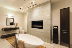 Prism Linear Wickson Wall-mount Fireplace