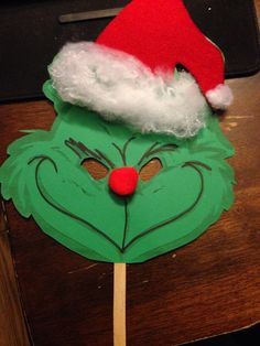Grinch Mask. Inspirational photo. Will have to find something to copy and adapt.