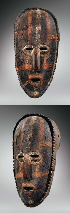 Africa | Mask from the Attie people of the Ivory Coast | Wood and pigment | ca. 1930 or earlier