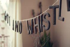 DIY hanging wooden letter sign banner