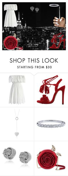 """lady in Red"" by nadire15 on Polyvore featuring Chicwish, Tiffany & Co. and Danielle Nicole"