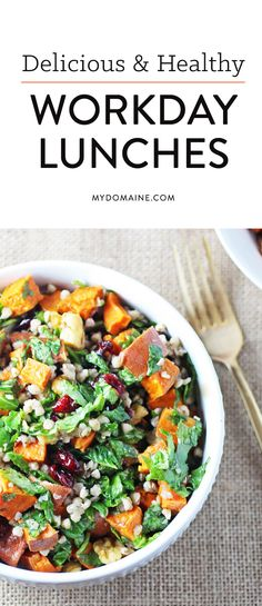 Delicious and healthy workday lunches, perfect for the office
