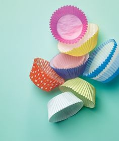 Use cupcake liners as paper lanterns (use regular light strand, push lights through center)
