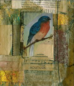 SOLITUDE print  of original collage by ArtandBookShop on Etsy, $12.00
