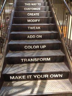 escada serve pra subir e pra comunicar
