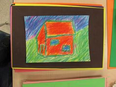Beverly Buchanan inspired houses for grade 2. Crayon with foam sheet under work to create bright bold color.