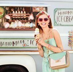 Ice cream and laughter. Summer essentials.
