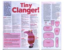 clanger-knitting-pattern.jpg A much loved creature from my youth and my children's childhood. Make your own Clanger!