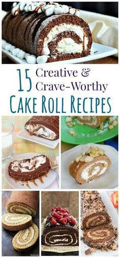 15 Creative and Crave-Worthy Cake Roll Recipes - for an easy and impressive dessert, it doesn't get better than these crazy cakes! Desserts 15 Creative and Crave-Worthy Cake Roll Recipes Delicious Desserts, Dessert Recipes, Plated Desserts, Diabetic Desserts, Food Cakes, Cupcake Cakes, Cupcakes, Crazy Cakes, Sweets