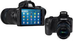 """http://gabatek.com/2013/06/14/tecnologia/samsung-galaxy-nx-nueva-camara-lentes-intercambiables-android/ Se filtran imágenes de la que podría ser la Samsung Galaxy NX, una cámara """"profesional """" que cuenta con el poder de Android."""