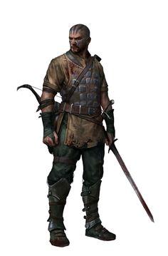 Kudh Tribalblood tags: Human Rogue Bandit Burglar Thief - Pathfinder PFRPG DND D&D d20 fantasy
