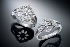 Created by Christopher Duquet Fine Jewelry Design; Chicago; Materials: White Gold, Diamonds