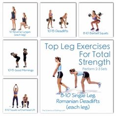 Top Leg Exercises For Total Strength & Fat Loss