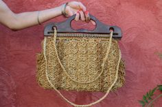 40's Raffia Bag by ParisVintageShop on Etsy, €35.00