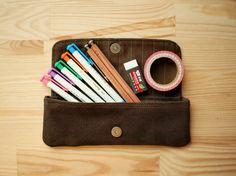 Pen bag by #1pinfun /潘貝格筆袋-黑檀色 - 設計師 一平方  #Pinkoi