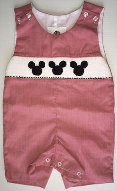 Baby Clothing Boy Disney Mickey Mouse Smocked Jon Jon Jetterbugs #Disney #Everyday