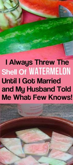 I USED TO THROW AWAY THE SHELL OF WATERMELON Normally, when we talk about watermelon, it enters your mind how abundant and juicy this fruit is. It is abundant in minerals and vitamins that make us remain healthy. Now, exactly what couple of k… Healthy Tips, Healthy Recipes, Healthy Foods, Healthy Choices, Watermelon Rind, Cardiac Diet, How To Treat Anxiety, I Got Married, Home Remedies