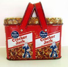vintage Cracker Jack tin