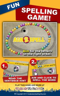 Use Aim-2-Spell on VocabularySpellingCity.com to provide students with the opportunity to select letters to reproduce spelling and vocabulary words.