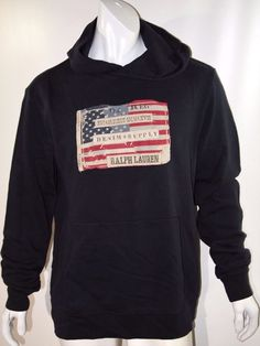 Denim & Supply Ralph Lauren American flag french terry hoodie size xl NEW  #DenimSupplyRalphLauren #Hoodie