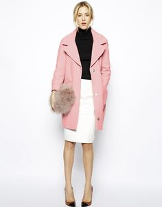 We saw oversized pink coats all over Lincoln Center this season cc889e3f718