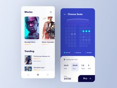 Cinema Ticket App designed by Omer Erdogan. Connect with them on Dribbble; Netflix Horror, Cinema Ticket, Apps, Movie Tickets, Mission Impossible, Song Playlist, App Ui Design, Web Design Inspiration, Show And Tell