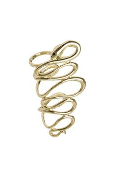 """RING LIMITED SIDE GOLD by Luxuryfashion Jewels FROM the """"SS15 LUXURYFASHION JEWELS"""" collectionlong side ring"""