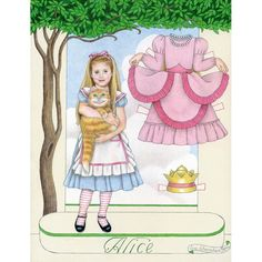 Ive been crazy for everything Alice since my childhood. Hers is an image I never tire of illustrating. Another thing Ive been crazy about since I was a kid are paper dolls. Alice and paper dolls- What could be better than that?  Image is printed on archival paper, the colors are vivid and true. It looks fabulous in any standard 8x10 frame.  Print will come signed and dated by the artist (me!) and packed in a clear cello sleeve with cardboard to avoid bending in transit.  Thanks!  Sue  Artist…