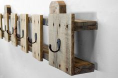 Coat Hooks Reclaimed Wood Coat Rack Entryway by byDadandDaughter