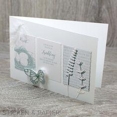 hier nun die weiteren Kärtchen-Karten aus den neuen Frühlings-/Osterpapieren aus dem Hause 'Renke':   Einmal die:      Und dann noch diese h...