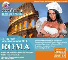 Il primo corso IN ITALIA con le ricette, senza cottura e con cottura, a base di proteine in polvere. Creato da La dispensa del bodybuilder. Sabato 6 dicembre 2014 presso Parco dei Principi Grand Hotel & SPA a Roma.