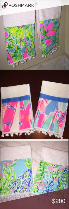 These are all for sale! $50 for a set of 2:) These are all the different patterns I have for sale. If you're interested tell me what pattern you would like to purchase. It is $50 for two towels Lilly Pulitzer Other