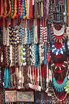African Swahili Ethnic Necklace - Contemporary Tribal Jewelry