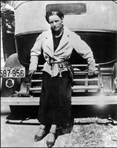 Bonnie Parker, outlaw and lover of Clyde Barrow.