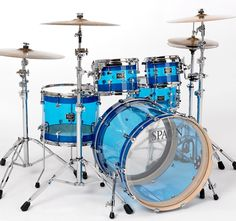 I have these in red. Mine is a  Ludwig Vistalite combo set that was used by my favorite band The Anniversary.