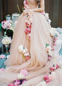 10 Spring Wedding Trends: 1.These printed and embellished dresses make us absolutely swoon. http://www.colincowieweddings.com/inspiration-and-details/10-spring-wedding-trends-for-the-floral-lover  Photo by Lena Kozhina; Styling by Dmitry Orlov