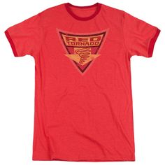 Batman: The Brave and the Bold Red Tornado Shield Red Ringer T-Shirt
