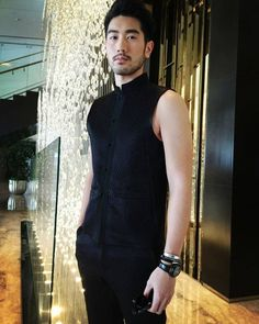Godfrey Gao 高以翔 @godfreygao, a Taiwanese model and actor, has best presented an oriental dandy look in SHIATZY·CHEN's brocade jacquard vest and trouser. #godfreygao #menswear #styleiswhat #dandy #suits