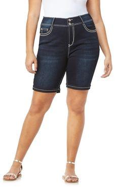 1b6a3b0711 Plus Size Luscious Curvy Embellished Bermuda In Kaylee. Wallflower JeansAmerican  ...