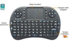 El Rii Mini i8 Wireless es un mini teclado con touchpad compatible con PCs Windows - Mac - Linux, Mini PCs Android - Raspberry Pi, Consolas y Smart TVs, quiero uno!!!