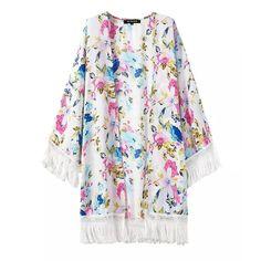 Blossom Fringe Kimono