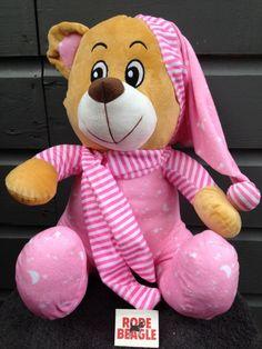 Pluche geboorte beer, 44 cm met een slaappakje en muts jongen/meisje