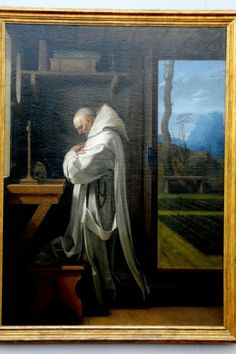 Saint Bruno.   1655, Eustache le Sueuer,  Gemäldegalerie, Berlin, Germany.