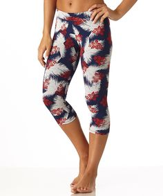 Women's Aloha Cropped Leggings super soft and perfectly stretchy!  #FairTrade #organic #apparel