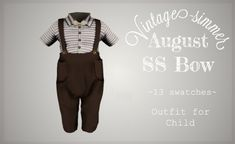 Sims 4 Toddler Clothes, Sims 4 Cc Kids Clothing, Toddler Outfits, Boy Outfits, Sims 4 Decades Challenge, Sims 4 Children, 4 Kids, Sims 4 Cas Mods, The Sims 4 Cabelos