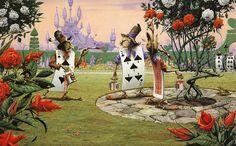 "Rodney Matthews illustration for ""Alice in Wonderland"". Alice In Wonderland Paintings, Alice In Wonderland Illustrations, Alice In Wonderland Book, Adventures In Wonderland, Lewis Carroll, Fantasy Paintings, Fantasy Art, Alice Book, Inspiration Artistique"